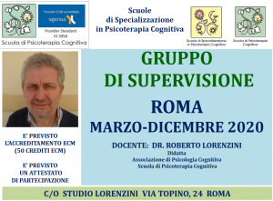 Roma, Gruppo di supervisione (corso ECM) @ c/o Studio Lorenzini