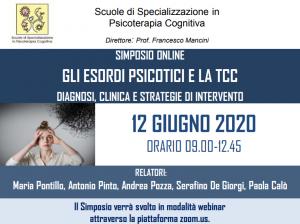 SIMPOSIO WEBINAR - Gli esordi psicotici e le TCC - diagnosi, clinica e strategie di intervento @ MODALITA' WEBINAR
