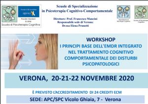Verona, I principi base dell'EMDR integrato nel trattamento cognitivo comportamentale dei disturbi psicopatologici (corso ECM) @ Scuola di Psicoterapia Cognitiva S.r.L. sede di Verona