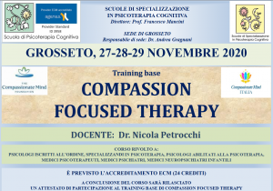 Grosseto, Compassion Focused Therapy - training base (corso ECM) @ Scuola di Psicoterapia Cognitiva S.r.L. sede di Grosseto