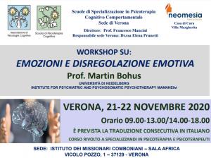 Verona, Emozioni e disregolazione emotiva @ c/o ISTITUTO DEI MISSIONARI COMBONIANI – SALA AFRICA