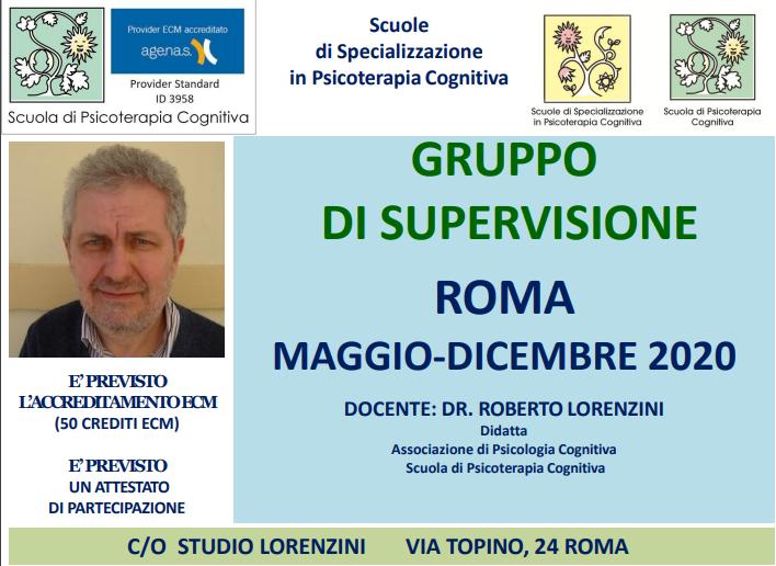 ROMA, GRUPPO DI SUPERVISIONE (CORSO ECM)