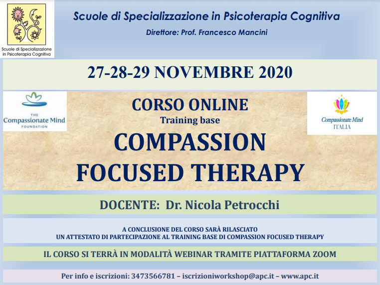 COMPASSION FOCUSED THERAPY – TRAINING BASE