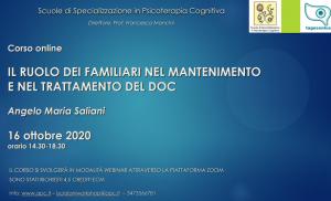CORSO ON LINE IL RUOLO DEI FAMILIARI NEL MANTENIMENTO E NEL TRATTAMENTO DEL DOC (CORSO ECM) @ MODALITA' WEBINAR