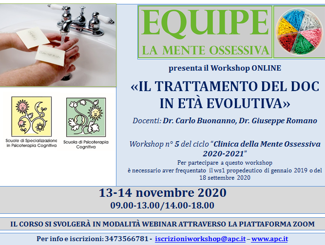 IL TRATTAMENTO DEL DOC IN ETÀ EVOLUTIVA - WORKSHOP 5