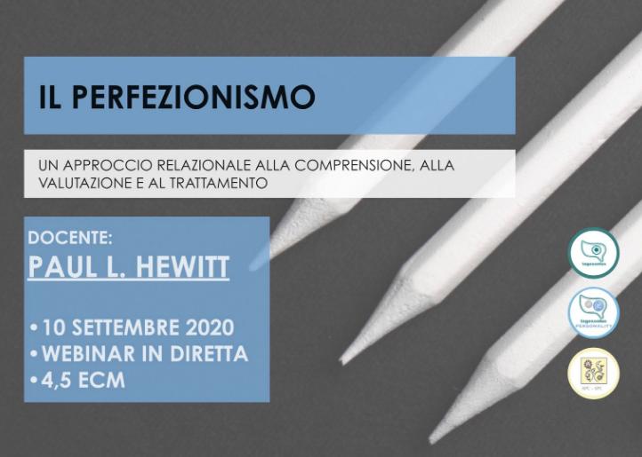 Il perfezionismo - un approccio relazionale alla comprensione, alla valutazione e al trattamento (corso ECM)