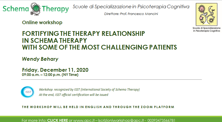 FORTIFYING THE THERAPY RELATIONSHIP IN SCHEMA THERAPY WITH SOME OF THE MOST CHALLENGING PATIENTS