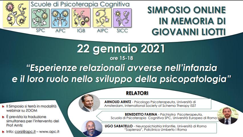 Liotti Day 2021 - Esperienze relazionali avverse nell'infanzia e il loro ruolo nello sviluppo della psicopatologia