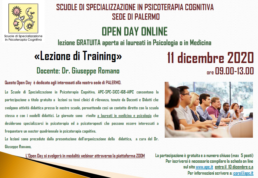 OPEN DAY ON LINE - sede di Palermo - «Lezione di Training»
