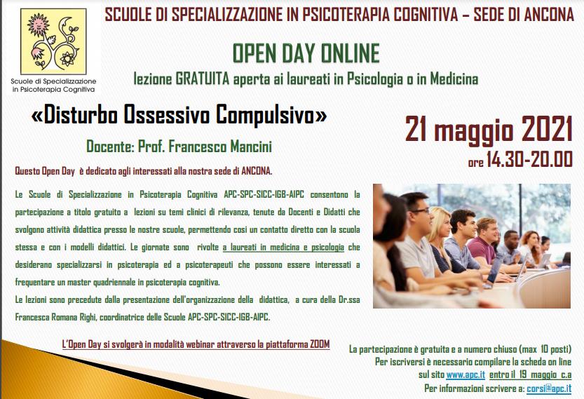 OPEN DAY ON LINE - Sede di Ancona - Disturbo Ossessivo Compulsivo