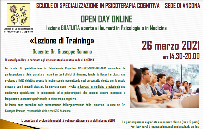 OPEN DAY ON LINE - Sede di Ancona - Lezione di Training