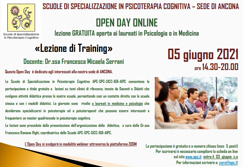 OPEN DAY ON LINE – Sede di Ancona - Lezione di Training