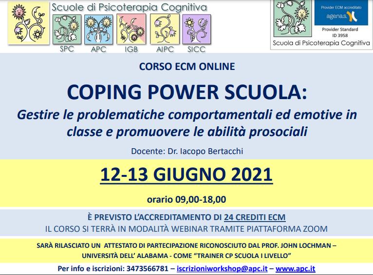 COPING POWER SCUOLA: Gestire le problematiche comportamentali ed emotive in classe e promuovere le abilità prosociali