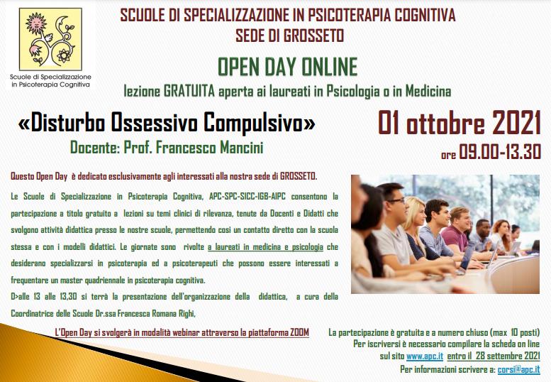 OPEN DAY ON LINE - sede di Grosseto - «Disturbo Ossessivo Compulsivo»